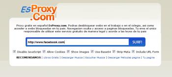 EsProxy; un proxy online para navegar por Internet