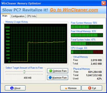 Memory Optimizer Pro, optimizador de memoria RAM