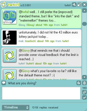 Twhirl, cliente Twitter para Mac OSX y Windows