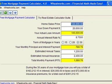 Calculadora para hacer estimaciones en el pago de hipotecas