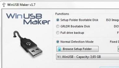 WinUSB maker crear discos para reinicios