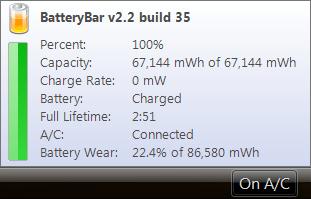 Medidor de Carga de la Batería para Windows