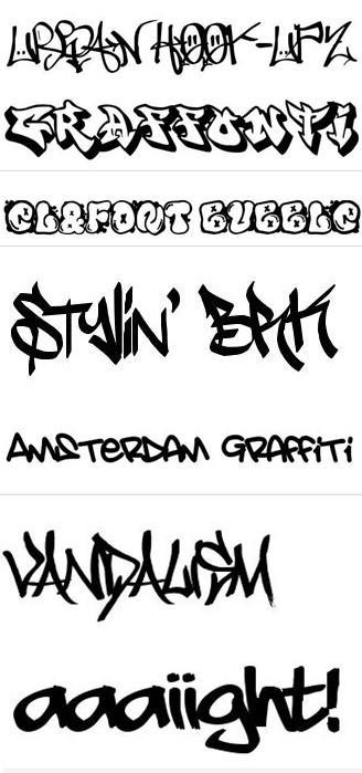 descarga de fuentes de graffiti