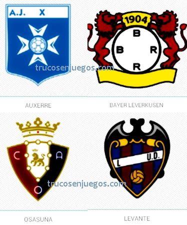 Football Logos Quiz FedApp Nivel 1-2 respuestas