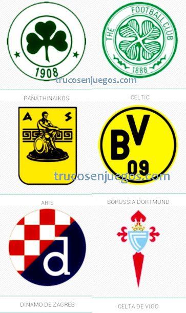 Football Logos Quiz FedApp Nivel 1-6 respuestas