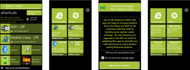 Battery Saver Windows Phone